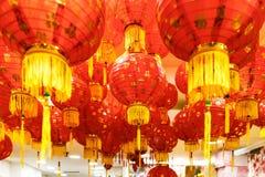 Shoppa i London dekorerade för kinesiskt nytt år Royaltyfri Foto