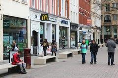 Shoppa i Manchester UK Royaltyfri Foto