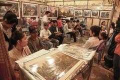 shoppa i pagod för Cambodja självständighetsdagenRoyal Palace silver Fotografering för Bildbyråer