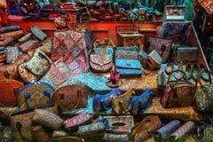 Shoppa i Yazd Arkivfoto