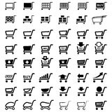 Shoppa köpmarknadsvagnen vektor illustrationer