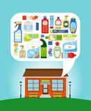 Shoppa med hushållkemikalieer Royaltyfri Bild