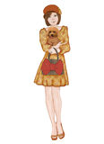 Shoppa med min älskvärda lilla hund Royaltyfri Fotografi
