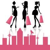 Shoppa modeflickor Royaltyfria Bilder