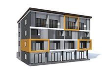 Shoppa modern stil för huset stock illustrationer