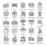 Shoppa och detaljhandel vektor illustrationer