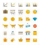 Shoppa och finansiera symboler Arkivfoton