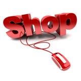 shoppa online Arkivbilder
