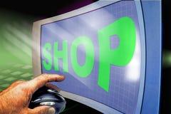 shoppa online stock illustrationer