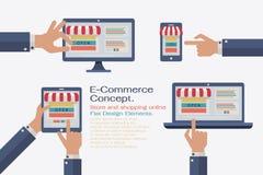 Shoppa online Arkivfoto