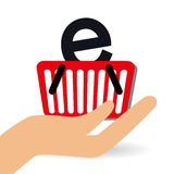 Shoppa online-design, vektorillustration Royaltyfria Foton