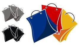 Shoppa online-Logo Design Template Vector stock illustrationer