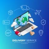 Shoppa online-planetlinjen symboler vektor illustrationer