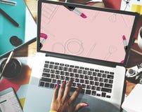 Shoppa online-Shopaholics E-kommers E-shopping begrepp Fotografering för Bildbyråer
