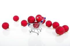 Shoppa på jul - shoppa för jul Royaltyfri Fotografi