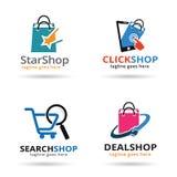 Shoppa packen Logo Template Design Vector Royaltyfria Foton