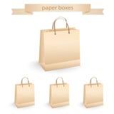Shoppa pappers- påsar, vektorillustration Royaltyfria Bilder