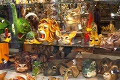 Shoppa skärm i Venedig, Italien Arkivfoton