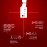 Shoppa som är infographic vektor illustrationer