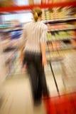 shoppa spänning Arkivbild