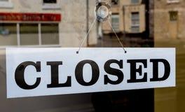 Shoppa stängt arkivfoto