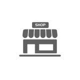 shoppa symbolen på knappar stock illustrationer