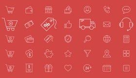 Shoppa symboler 01 stock illustrationer