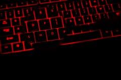 Shoppa text på tangentbordet vid natt Royaltyfri Bild