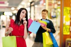Shoppa tid Fotografering för Bildbyråer