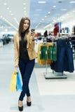 Shoppa tid royaltyfri bild