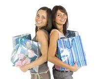 shoppa två kvinnor Arkivbilder