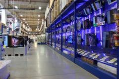 Shoppa tv:ar Fotografering för Bildbyråer