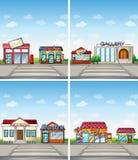 shoppar stock illustrationer