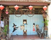 Shoppar den Retro cykeln för ASEAN royaltyfria bilder