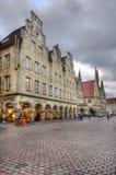 Shoppar i Munster, Tyskland Arkivbild