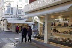 Shoppar i Ostend, Belgien Royaltyfri Bild
