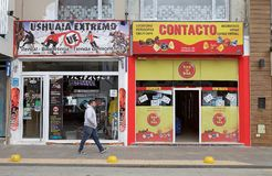 Shoppar i Ushuaia, Argentina Royaltyfria Bilder