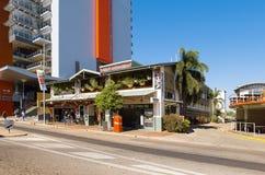 Shoppar och byggnader Darwin Arkivfoto