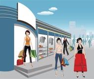 shoppare Arkivbild