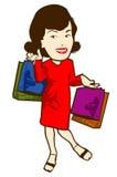 shoppare vektor illustrationer