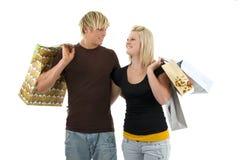 shoppare två Arkivbilder