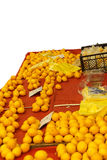 Shoppareköpapelsiner Arkivfoto