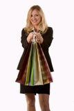 shopparekvinna Fotografering för Bildbyråer