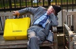 Shopper, asleep. Stock Photos