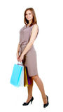 Shopper with bags Royalty Free Stock Image