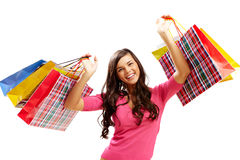 Shopper with bags Royalty Free Stock Photos