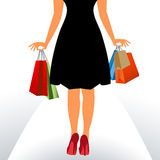 Shopper with bags Royalty Free Stock Images