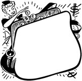 Shopper With Change Purse Ad Frame Stock Photos