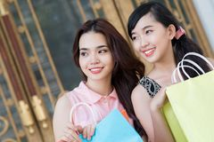Shopper friends Stock Image