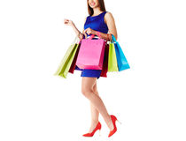 Shopper with gifts Stock Image